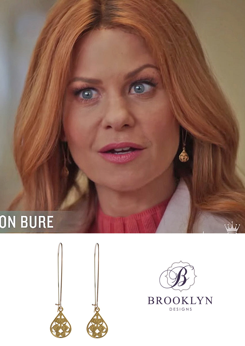 Delilah Gold Earrings *As Seen On Candace Cameron Bure*