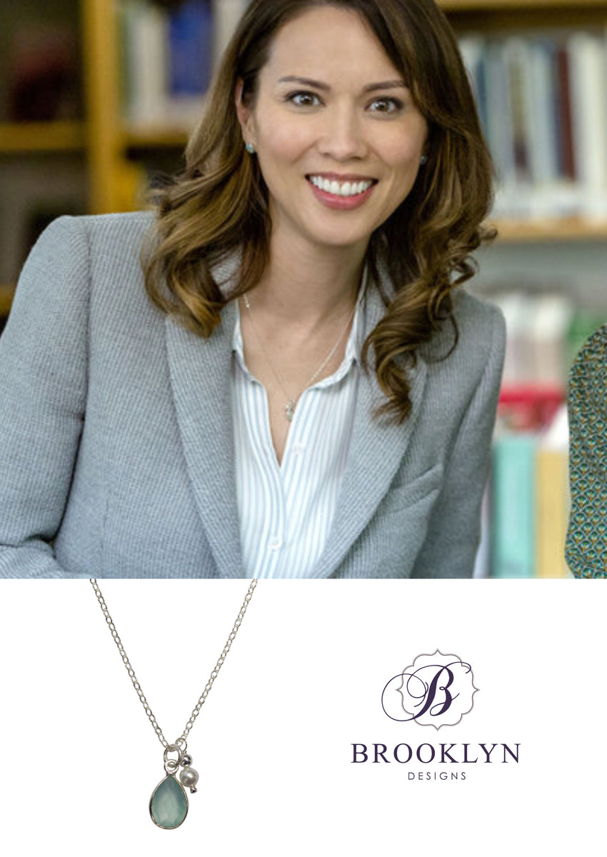 Ellington Aqua Chalcedony Silver Necklace *As Seen On Aurora Teagarden Mystery*