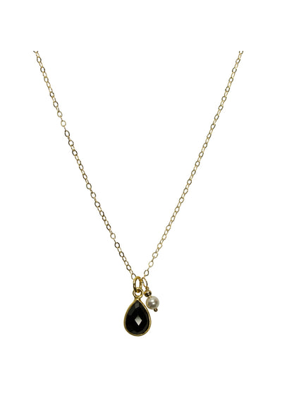 Ellington Black Onyx Gold Necklace * As Seen On Riverdale *