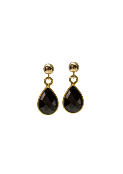 Ellington Black Onyx Gold Earrings *As Seen On How To Get Away With Murder*