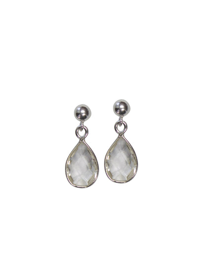 Ellington Crystal Quartz Silver Earrings *As Seen On Alison Sweeney*