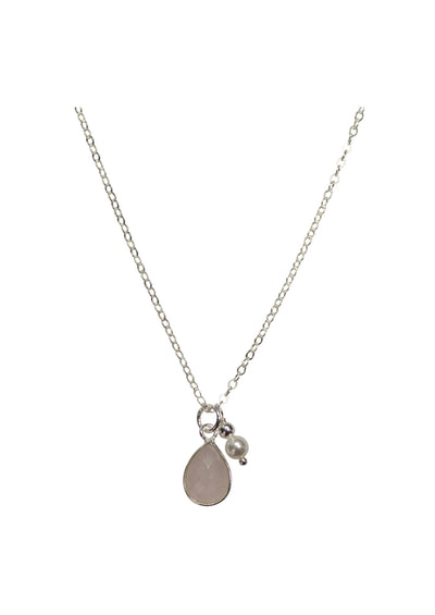Ellington Rose Quartz Silver Necklace *As Seen On Alison Sweeney*