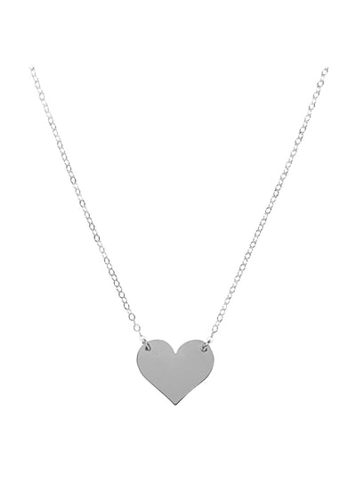 ENGRAVED Heart Silver Necklace