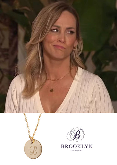 ENGRAVED Initial Gold Necklace *As Seen On The Bachelorette and Kortney Wilson*
