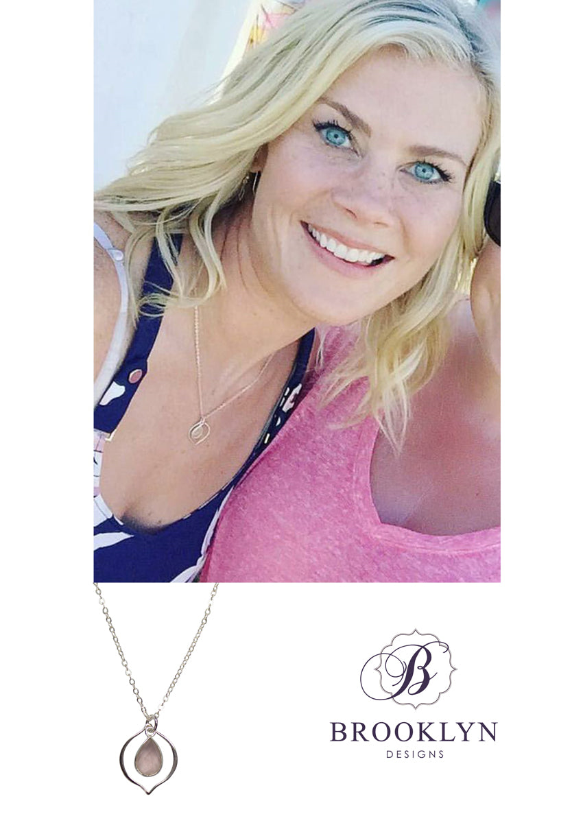Erin Rose Quartz Silver Necklace *As Seen On Alison Sweeney*