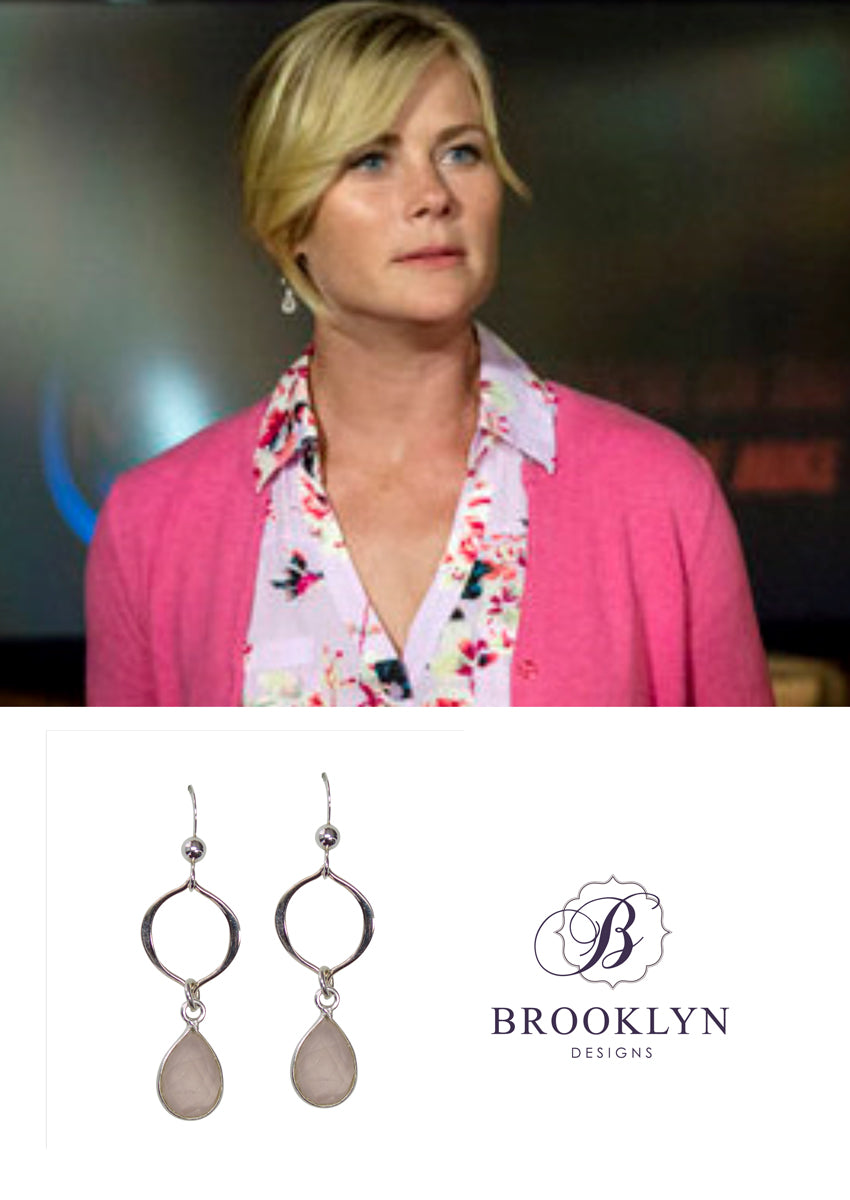 Erin Rose Quartz Silver Earrings *As Seen On Alison Sweeney*