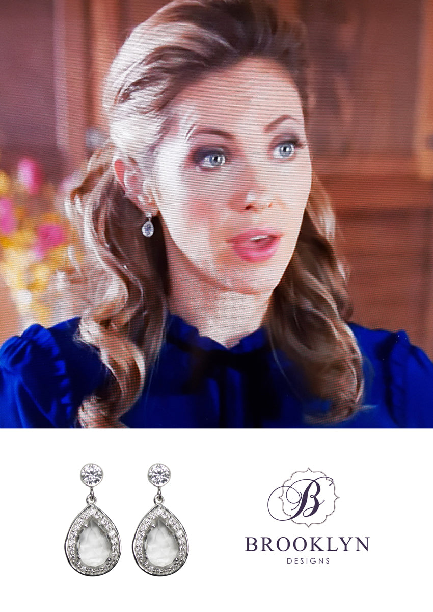 Farah Silver Earrings *As Seen On When Calls The Heart and How To Get Away With Murder*