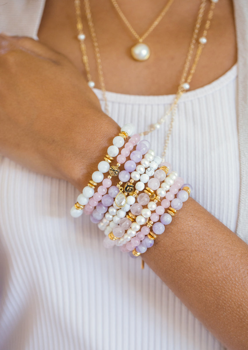 Margo Rose Quartz Gold Bracelet