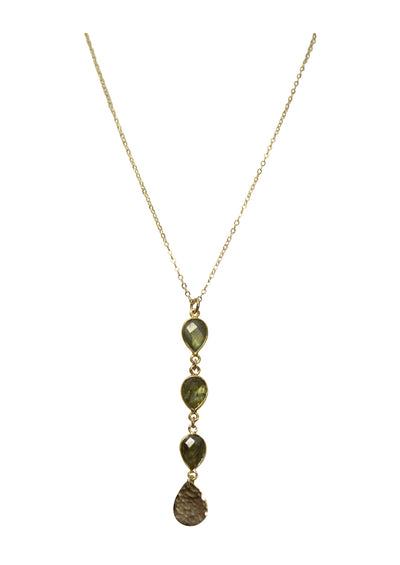 Giada Labradorite Long Gold Necklace *As Seen On Alison Sweeney*