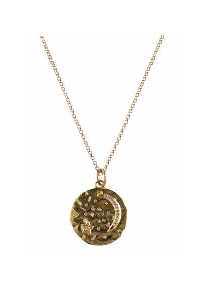 Astrid Gold Medallion Necklace