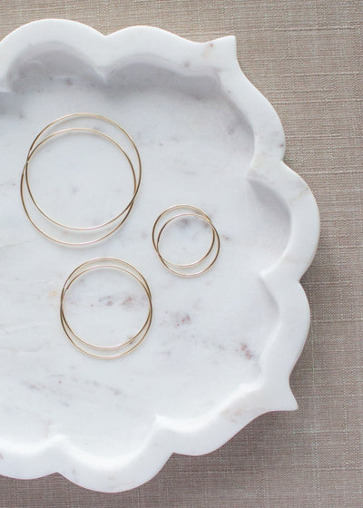 Gwen Gold Extra Large Hoop Earrings