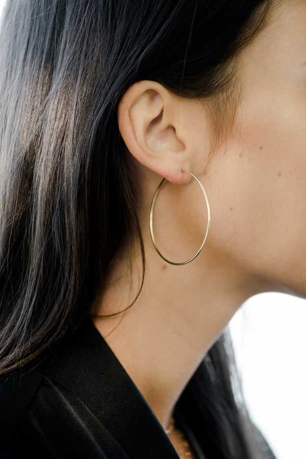 Gwen Rose Gold Hoops