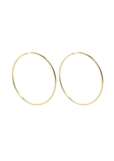 Gwen Gold Medium Hoop Earrings *As Seen On Candace Cameron Bure & Hallmark Channel*