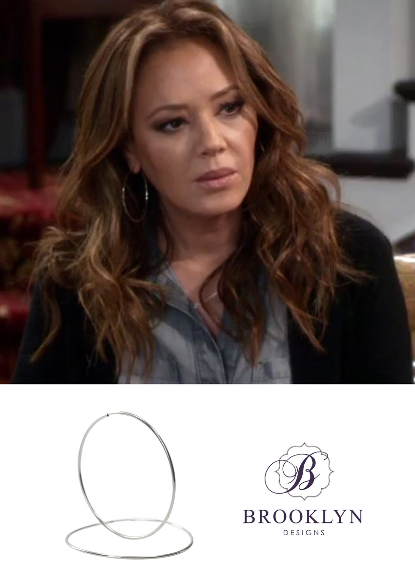 Gwen Silver Hoops *As Seen On Kevin Can Wait*