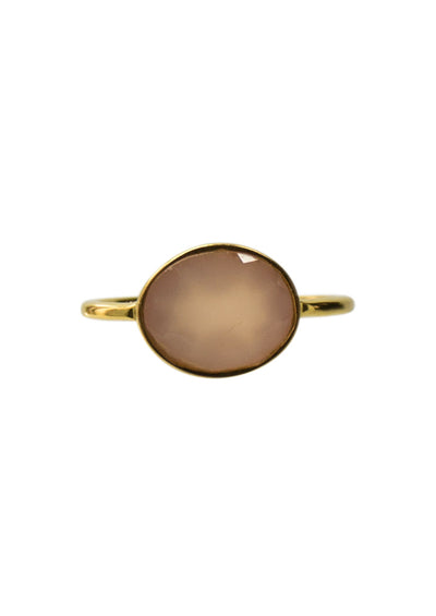Hampton Pink Chalcedony Gold Ring