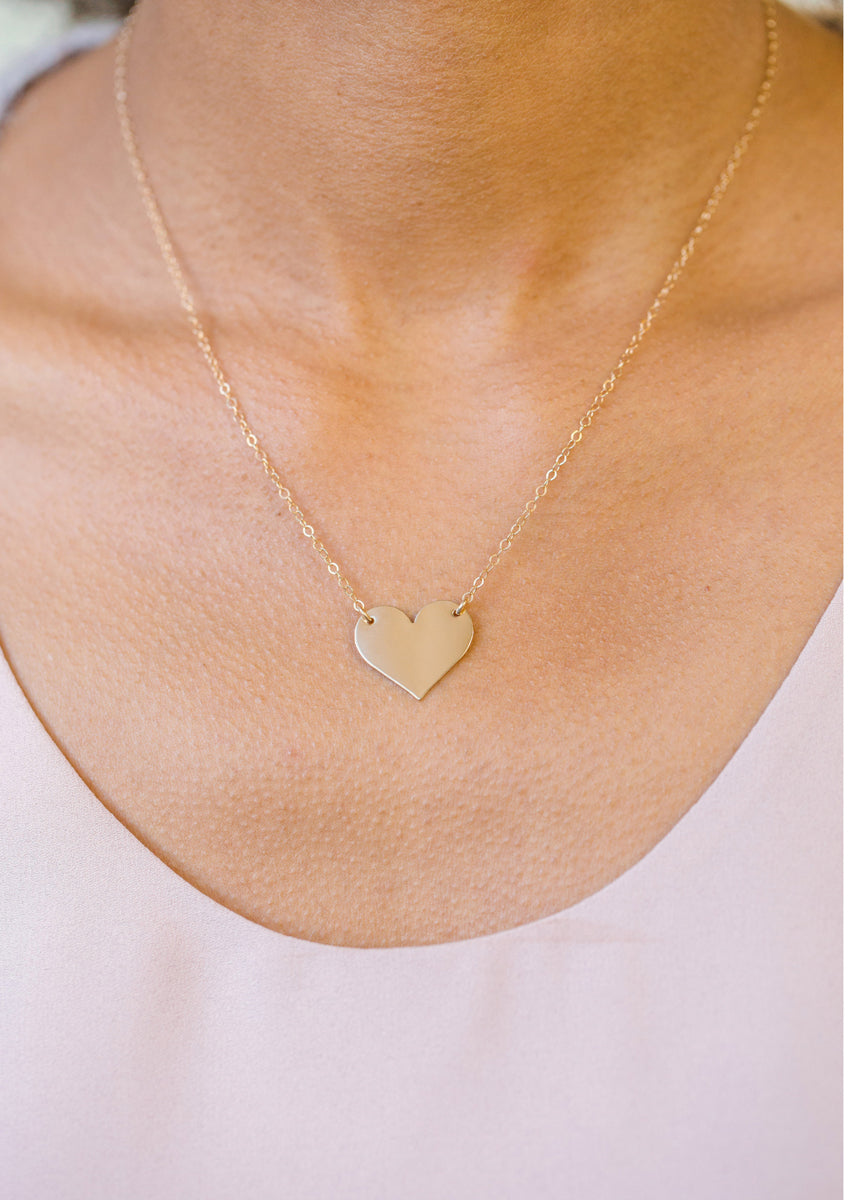 ENGRAVED Heart Gold Necklace