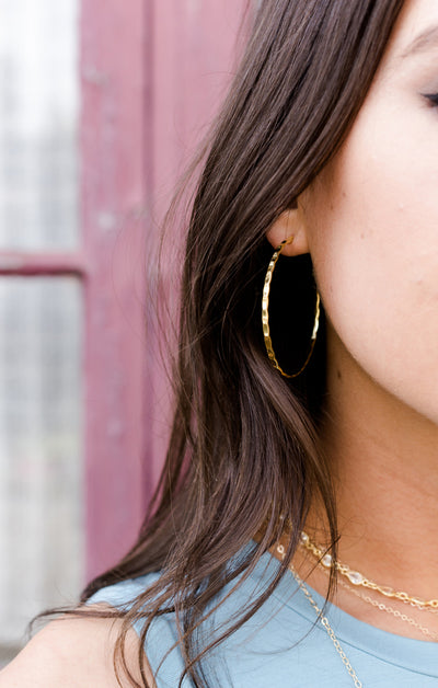 Jennifer Large Gold Hoops *As Seen On The Bachelorette*