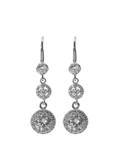 Kate Silver Earrings *As Seen On Candace Cameron Bure & Autumn Reeser*