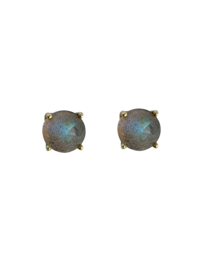 Landon Labradorite Gold Earrings