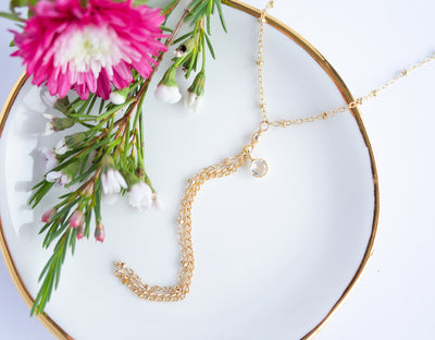 Rebekka Gold Lariat Necklace