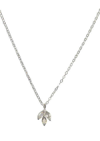 Laurel Rainbow Moonstone Silver Necklace *As Seen On Destination Wedding*