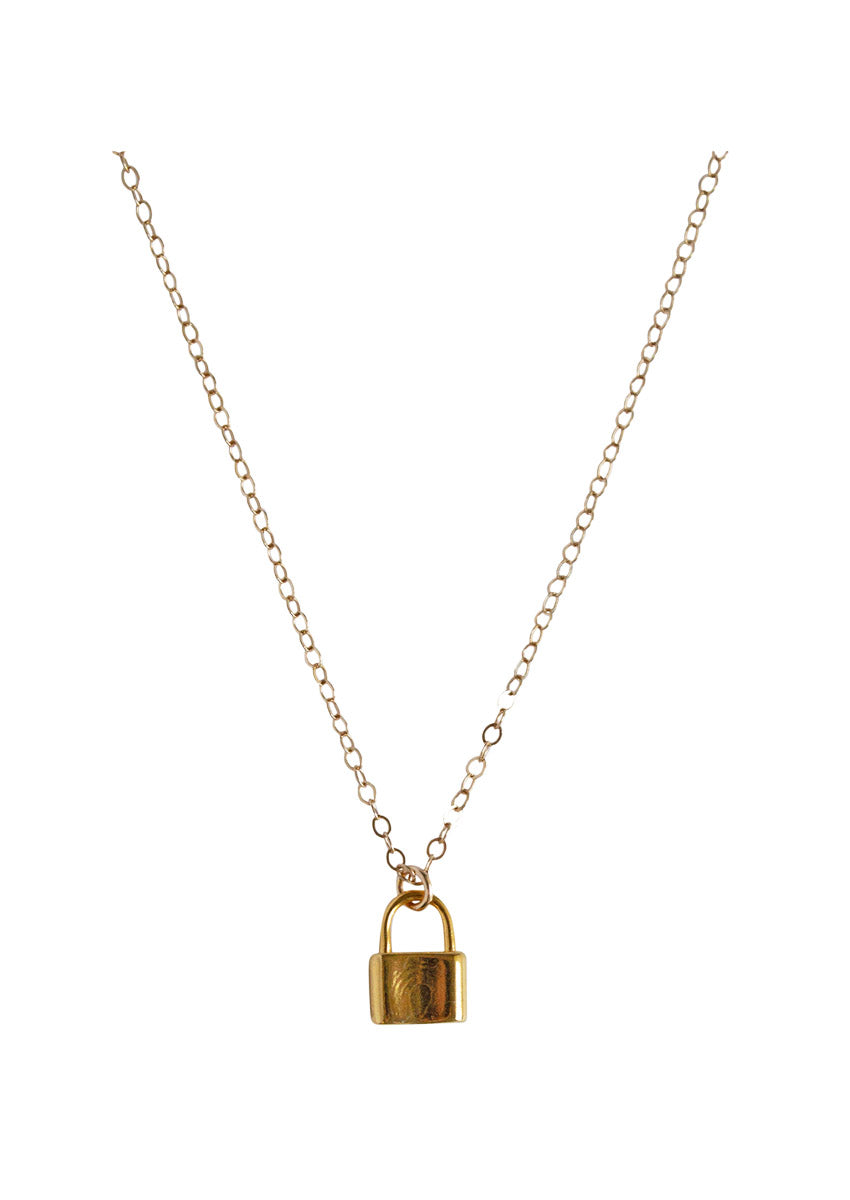 Love Lock Gold Necklace