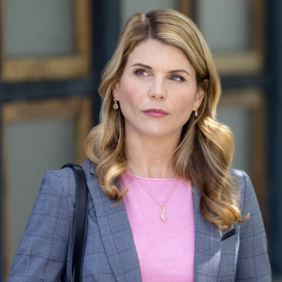 Ellington Rose Quartz Gold Earrings *As Seen On Lori Loughlin*