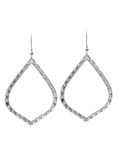 Mariah Silver Hoop Earrings *As Seen On Page Turner*