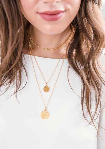 Marisol Medallion Gold Necklace