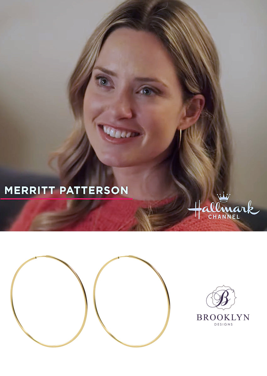 Gwen Gold Hoops *As Seen On Leah Remini, HTGAWM and Merritt Patterson*