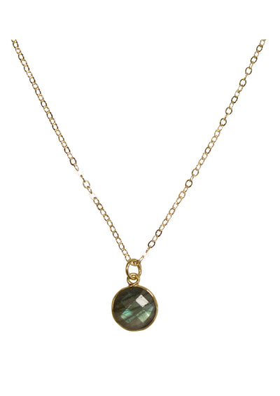 Monica Labradorite Gold Necklace *As Seen On Danica McKellar and Destination Wedding*