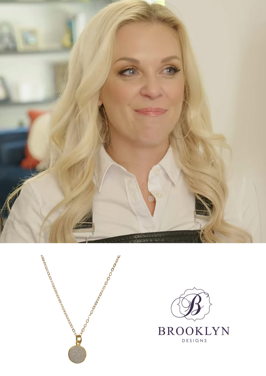 Monica Druzy Gold Necklace *As Seen On The Bachelorette and The Hallmark Channel*