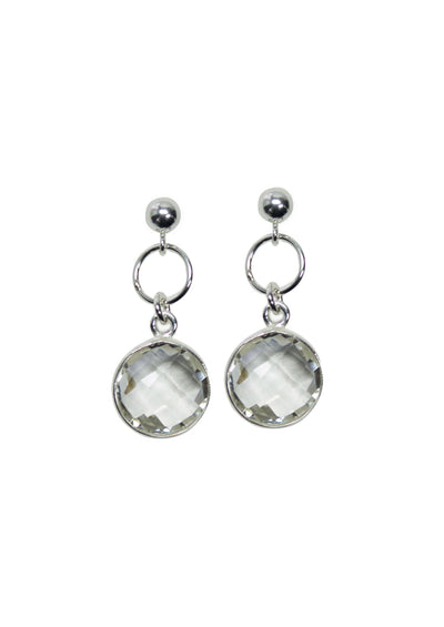 Monica Crystal Quartz Silver Earrings *As Seen On Lacey Chabert*