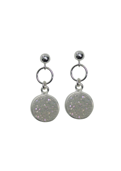 Monica Druzy Silver Earrings *As Seen On Alison Sweeney and Lori Loughlin*