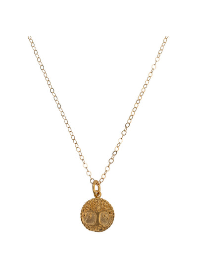 Neo Medallion Gold Necklace *As Seen On Vanessa Hudgens*