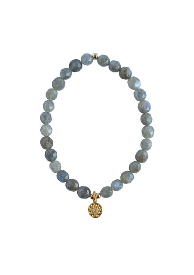 North Star Labradorite Gold Bracelet