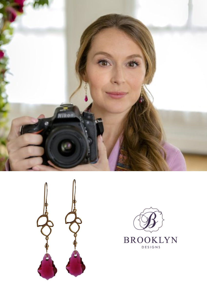 Allie earrings worn on Picture Perfect Mysteries