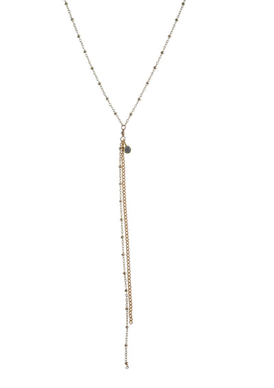 Rebekka Long Gold Lariat Necklace