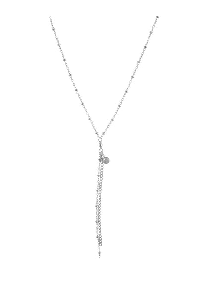 Rebekka Silver Lariat Necklace