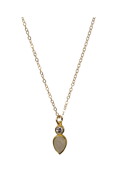 Romy Rainbow Moonstone Gold Necklace