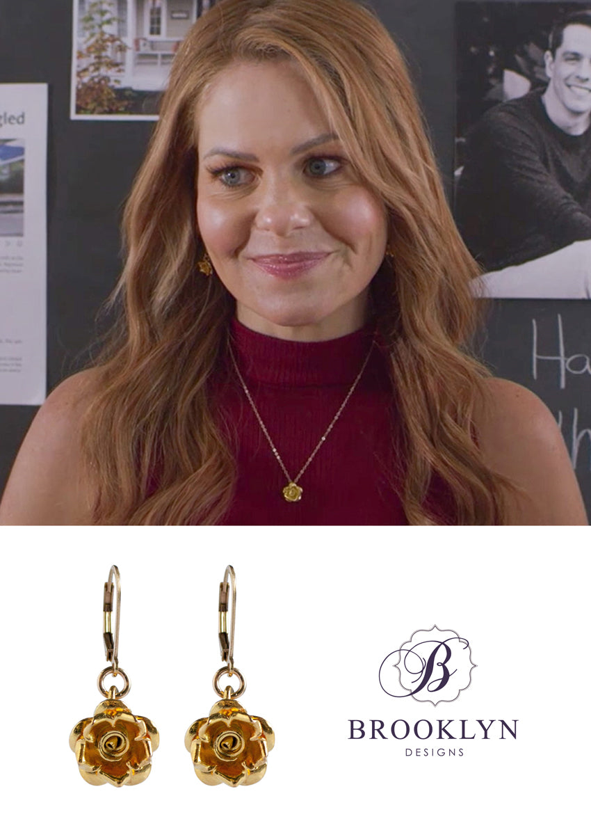 Rosa Gold Earrings *As Seen On Candace Cameron Bure*