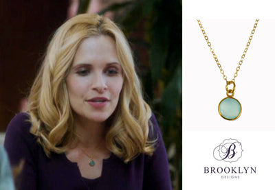 Monica Aqua Chalcedony Gold Necklace *As Seen On The Bachelorette*