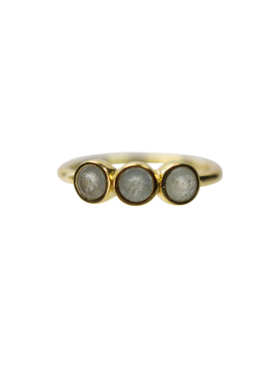 Sharlene Aquamarine Gold Ring