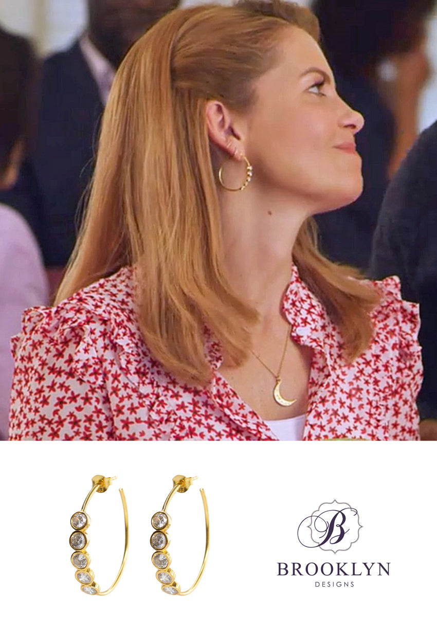 Shay Gold Hoops *As Seen On Candace Cameron Bure*