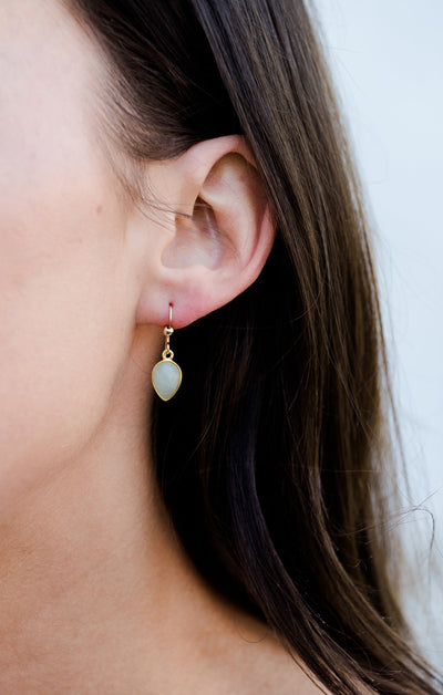Soho Rose Chalcedony Gold Earrings