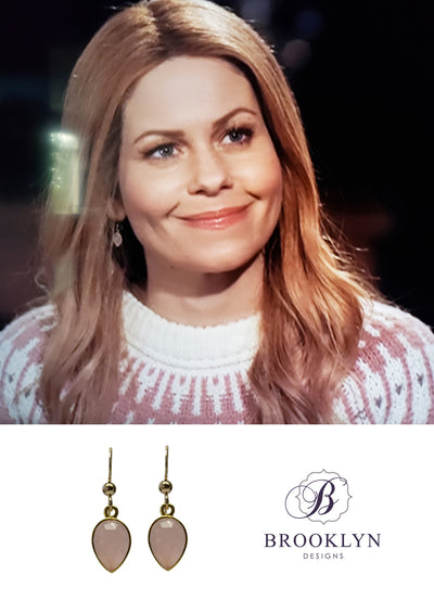 Soho Rose Chalcedony Gold Earrings *As Seen On Candace Cameron Bure*