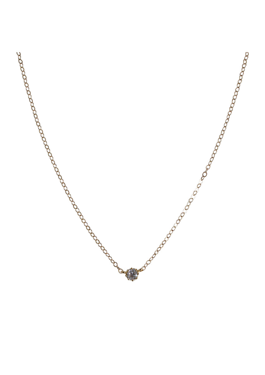 Solitaire Gold Necklace