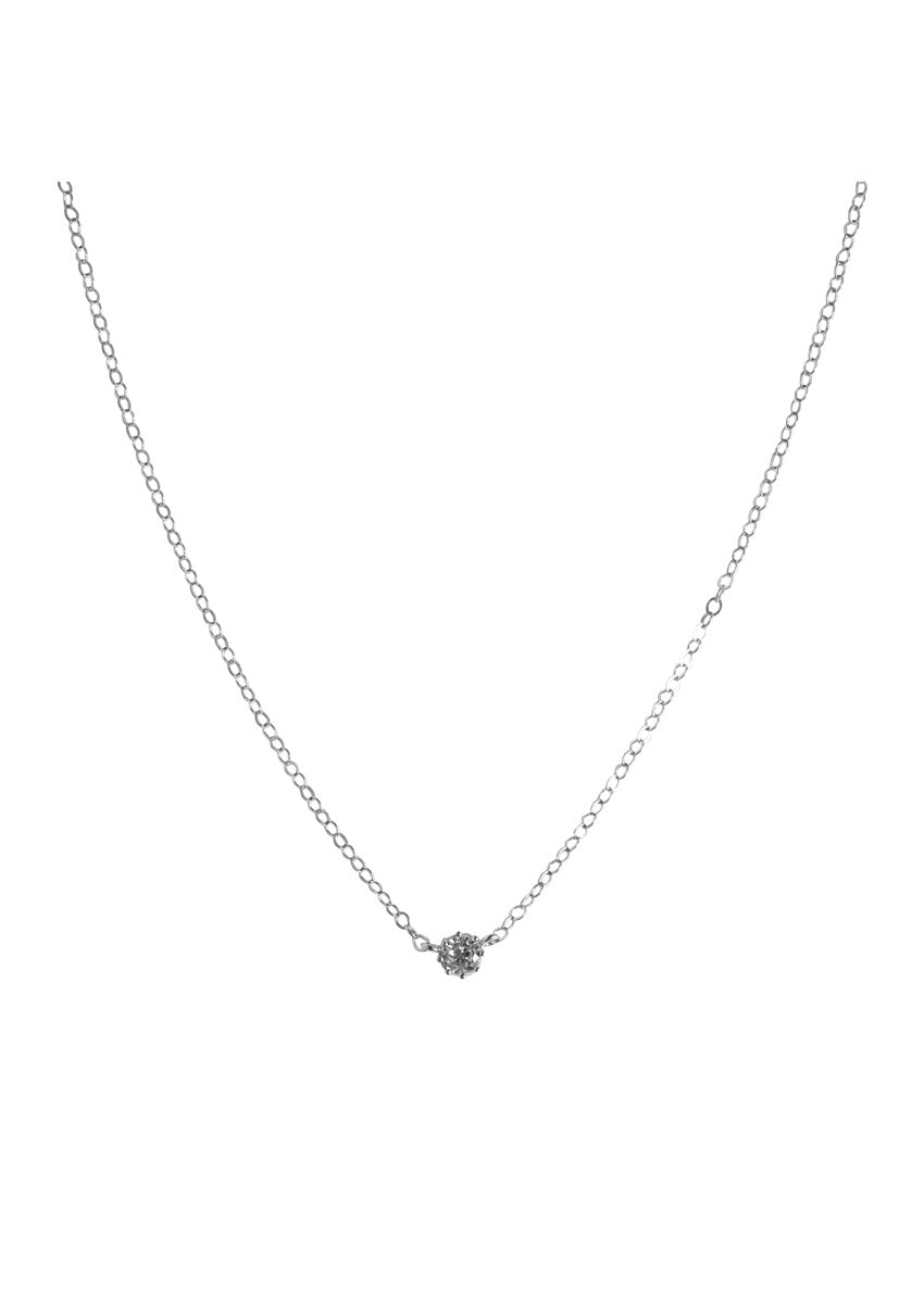 Solitaire Silver Necklace