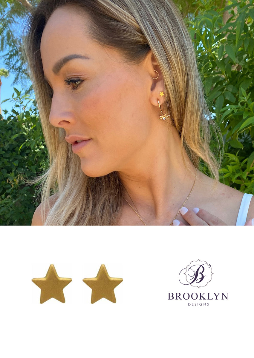 Star Gold Stud Earrings *As Seen On The Bachelorette*