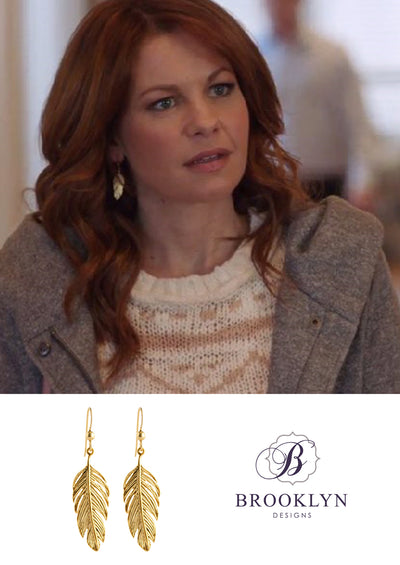 Tory Gold Earrings *As Seen On Candace Cameron Bure, BH90210 & Riverdale *